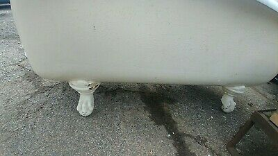 antique 4 claw bathtub white porcelain cast iron vintage with fittings