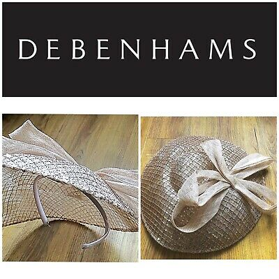 Debenhams Wedding Hat Facinator / Pale Dusty Pinky