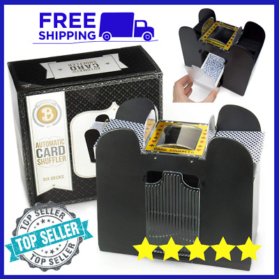 Brybelly Automatic Card  6 deck Shuffler Operated Electric Home -Poker -Trading