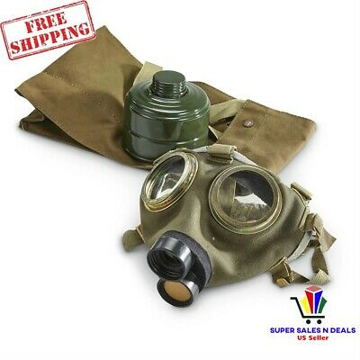 Gas Mask M76 Hungarian Army Military Surplus 1970 War Collectible 40mm Filter