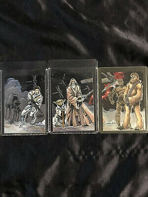 Star Wars Galaxy 7 Etched Foil Puzzle Chase Card #2