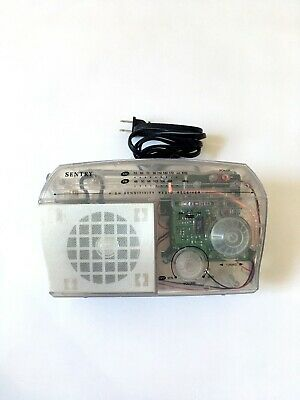 Sentry Jail Prison Clear Transparent AM/FM Portable Desktop Radio