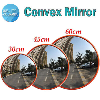Wide Angle Convex Security Safety Mirror Curved Road Traffic Driveway 60cm UK