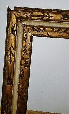 Vintage Hand carved Gilt Wood Spanish Baroque Picture Frame 16 1/2x18 1/2