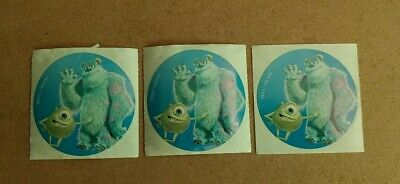 Disney World Stickers - Lot of 3 - Mike & Sully from Monsters Inc.