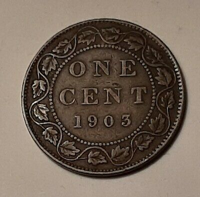 1903 Canada Large One Cent Coin (95% Copper) - King Edward VII