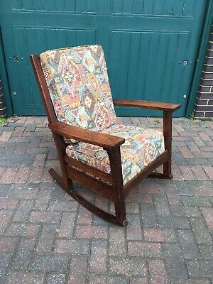 Antique Arts & Crafts Stickley Rocking Chair