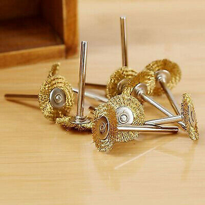 Mini Brass Wire Cup Wheel Polishing Brushes For Grinder Rotary Drill Tool R6M3
