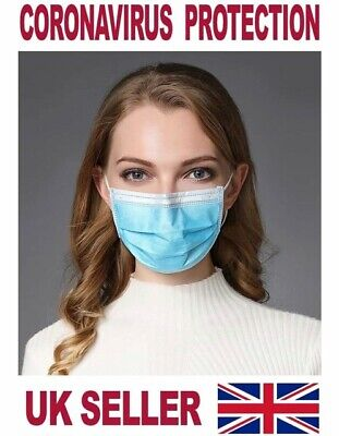 Surgical Face Mask Medical Flu Dust Mouth 3ply Earloops Disposable 1-300pcs