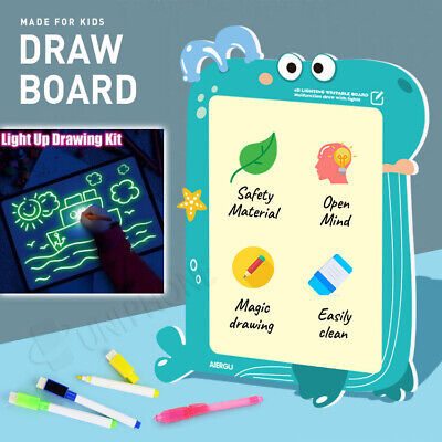 【2in1】Draw With Light Fun Developing Toy Drawing Board Magic tablet doodle A3/A4