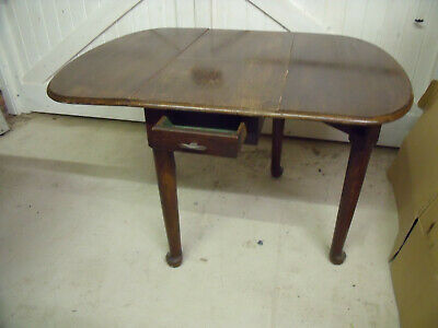 Arts And Crafts  Oak Drop Leaf Dining Kitchen  Table. Will Be Golden If Stripped
