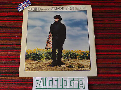 "Zucchero 12"" LP Wonderful World 33 Giri Vinile Senza una Donna Made in UK"