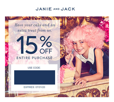 JANIE & JACK COUPON code 15% off Entire Purchase - Expires May 01, 20 20