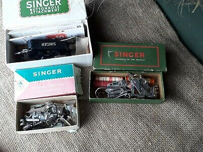 VINTAGE SINGER SEWING MACHINE ATTACHMENTS - ACCESSORIES - 3 boxes in the lot