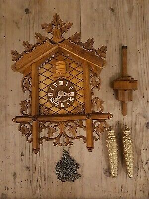 Antique Style Mechanical Cuckoo Clock Black Forest