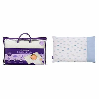 Clevamama Clevafoam Baby Pillow With Replacement Pillow Case (Blue)