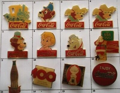 Different Coke Coca-Cola 15Th Ann. Disney Or Else Brooch +Pin (Your Choice) G754