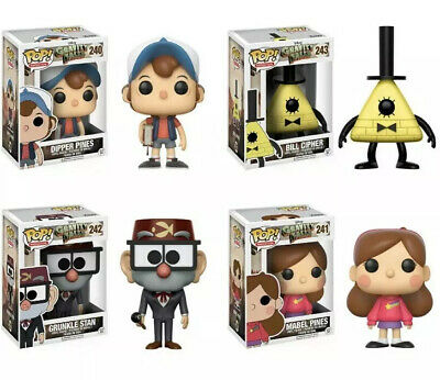 Funko POP! Disney GRAVITY FALLS 4-FIGURE SET Dipper Pines Bill Cipher Mabel +