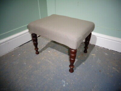 ANTIQUE VICTORIAN MAHOGANY STOOL c1890-1900 VINTAGE FOOT STOOL CHILDS STOOL