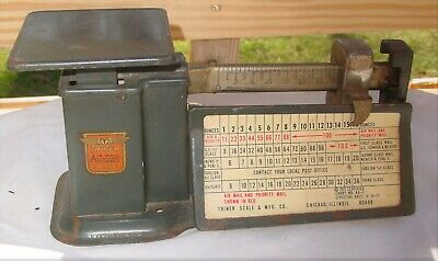 Vintage 1971 Certified Triner Postal Scale Measures 16oz.