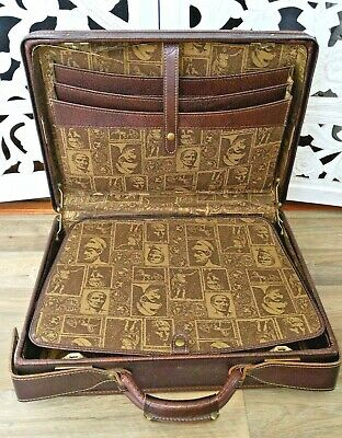 Vintage Hartmann Red Faux Leather Large Briefcase Suitcase Luggage 60' 70's