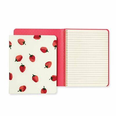 Kate Spade New York Women's Strawberries Concealed Spiral Notebook Red/Green/...