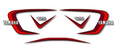 YAMAHA RD 125 1980 - Kit carrosserie  Sticker decals - RDX 125 - Black or White