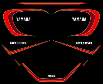 YAMAHA RD 350 LC 4L0 - Kit carrosserie Sticker decals - 4LO RDLC 1980-81