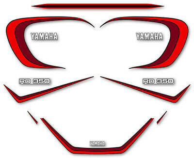 YAMAHA RD 350 LC 4L0 - Kit carrosserie Sticker decals - 4LO RDLC 1980-81 red