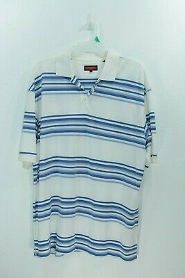 Mens Austin Reed London Polo Shirt White Blue Xxl 2xl 13 99 Picclick