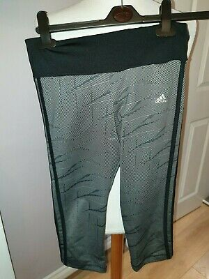 Superb Girls Designer Adidas 3/4 Compression Climalite Shorts Uk 12-13 Years £40