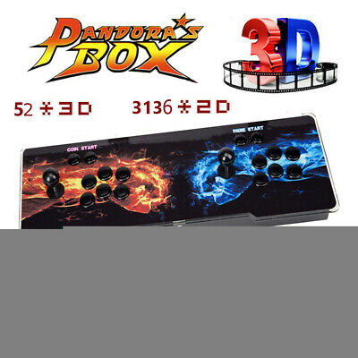 US Pandora's Box 12S 3188 Games 2D/3D video game Two-player games Hot Sale EG#