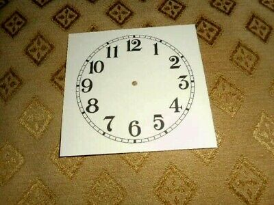 "Square Paper (Card) Clock Dial - 4 1/2"" M/T- Arabic- MATT CREAM-Face/Clock Parts"