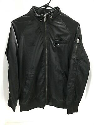 Members Only Black Mens Size Small S Modern Iconic Racer Jacket NWT $118