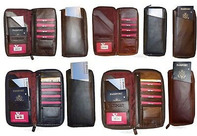 Organizer, Leather document case, passport ID airline ticket Credit card planner
