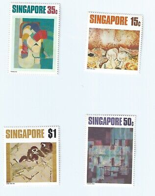 SINGAPORE 1972 CONTEMPORARY ART SERIES Set of 4 STAMPS SC#153-156 Very Fine Mint