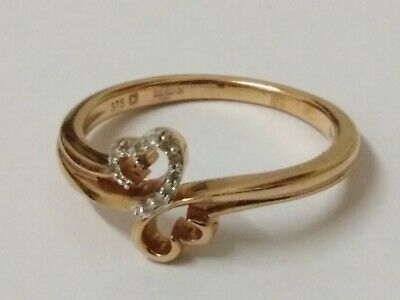 9ct rose gold ring size K (Reduced for Quick sale)