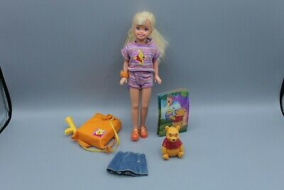 Vintage Barbie Doll Flashlight Fun Stacie Winnie the Pooh Play Set