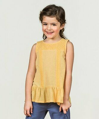 Matilda Jane Yellow Lace Top Size 14 Tween Girls Spring Summer Boutique Clothes