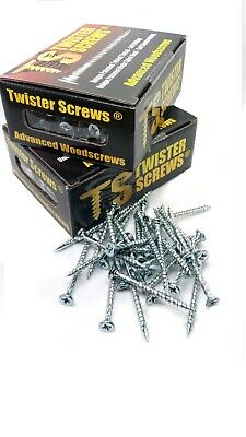 Twister WoodScrew Patented screw design Self Drilling/Countersinking trade pack