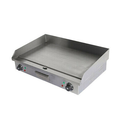 73cm Commercial Electric Griddle Hotplate Flat BBQ Grill UK Plug Stainless Steel