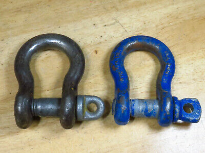 2 Screw Pin Clevis WLL 3-1/4T Shackle 5/8