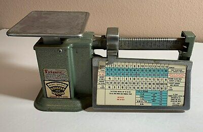 Vintage Triner Postal Equipment Portable 1963 Post Office Mail Scale Works
