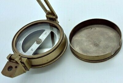 Vintage brass Compass by E.R. Watts & Son LONDON