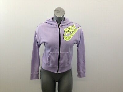Nike Hoodie Girls XL Purple Long Sleeve Full Zip Hooded Jacket