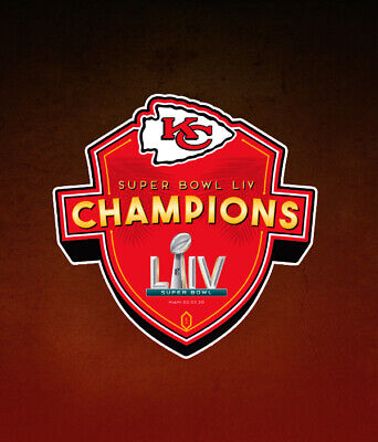 Super Bowl Liv 54 World Champions Kansas City Chiefs Championship Decal Sticker