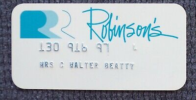 Vintage JW Robinson's Department Store Charge Credit CARD Rare & Collectible