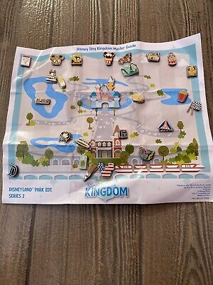 Disney Tiny Kingdom Series 2 Complete 24 Pin Set Disneyland Park Limited Release