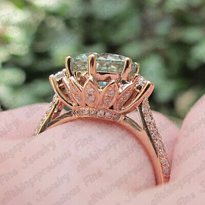 2.50 Ct Round Cut Diamond 10K Rose Gold Finish Floral Engagement Wedding Ring