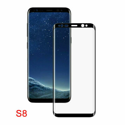For Samsung Galaxy S8 5D Full Cover Tempered Glass Screen Protector Film